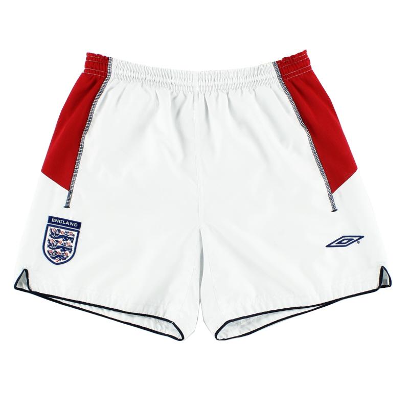 2003-05 England Away Shorts S