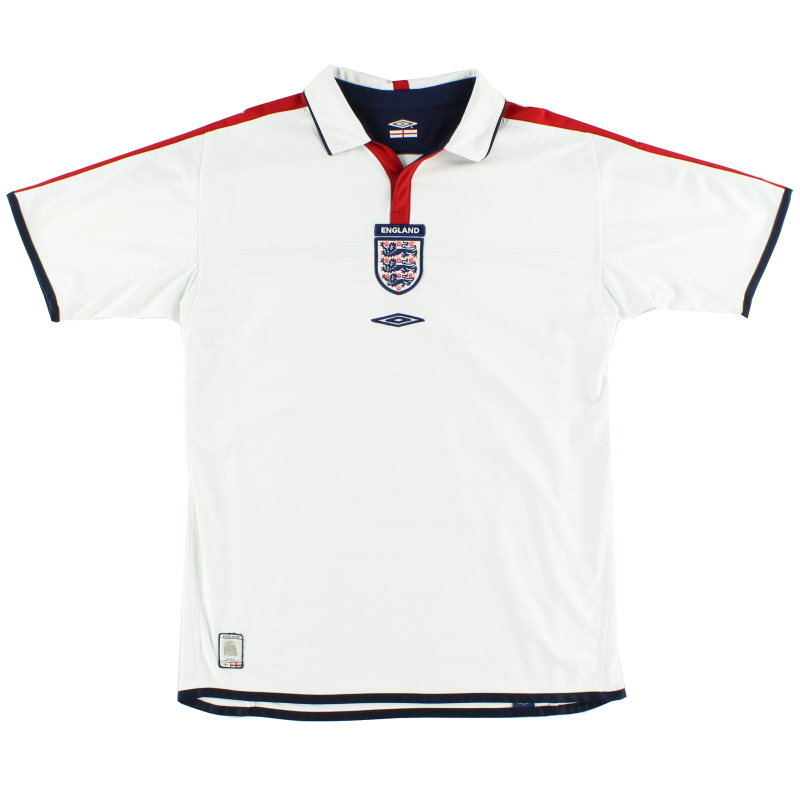 2003-05 England Home Shirt L