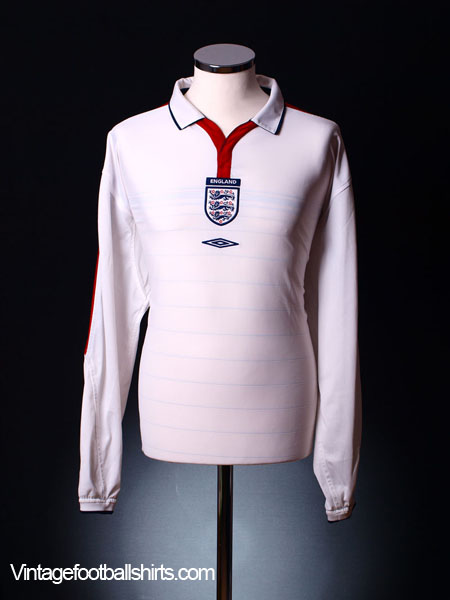 2003-05 England Home Shirt L/S L