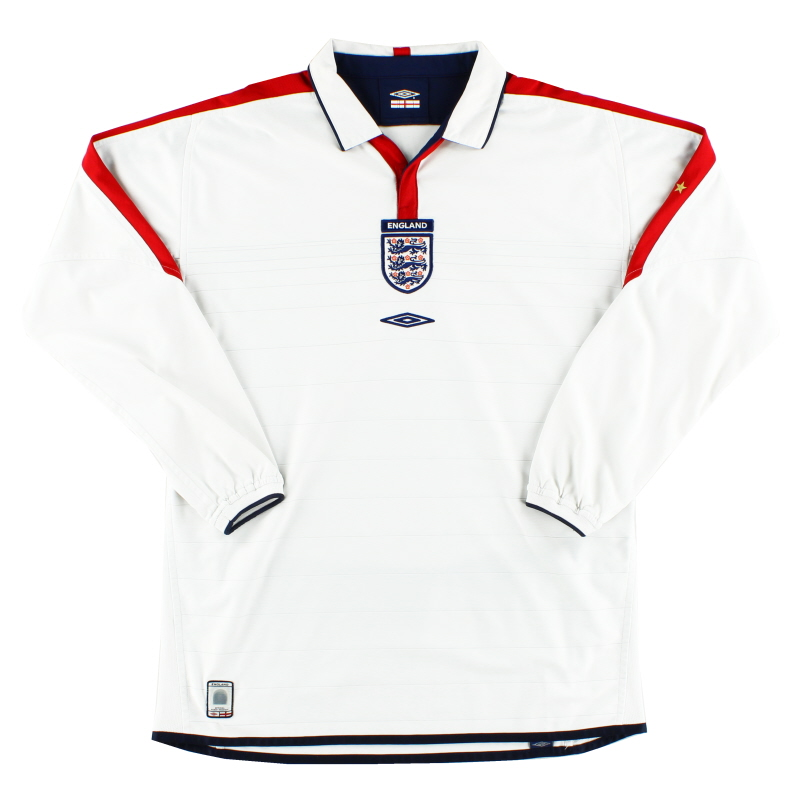 2003-05 England Home Shirt L/S L