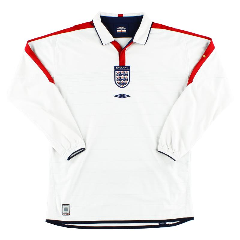 2003-05 England Umbro Home Shirt L/S L