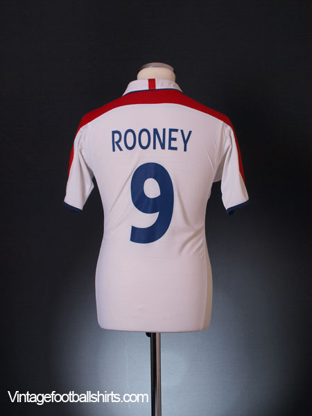 2003-05 England Home Shirt Rooney #9 S