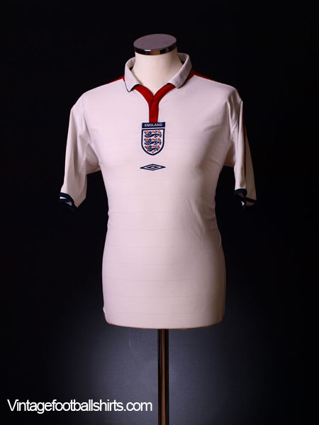 2003-05 England Home Shirt XL