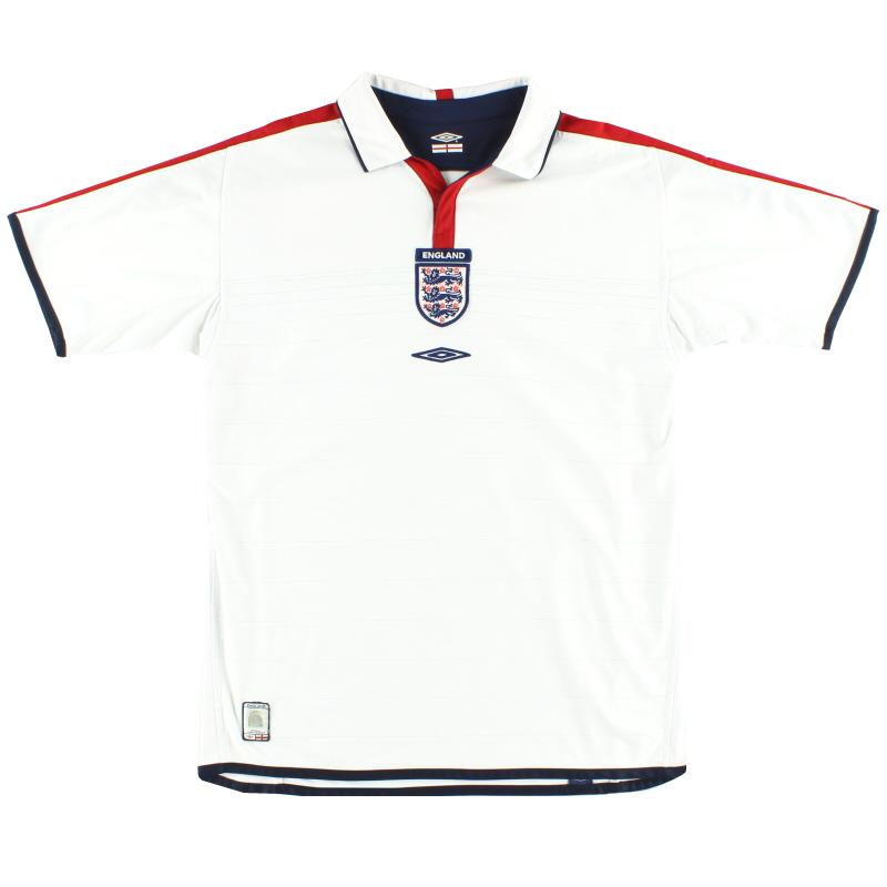 2003-05 England Umbro Home Shirt M