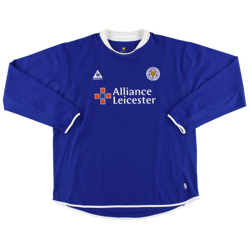 2003-05 Leicester Home Shirt L/S *Mint* XXL - X2946