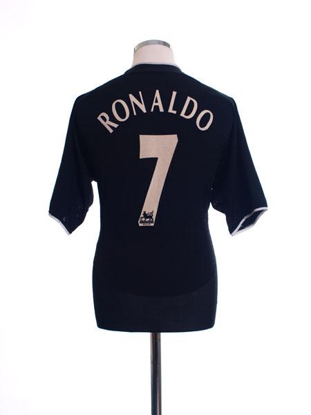 2003-05 Manchester United Away Shirt Ronaldo #7 L