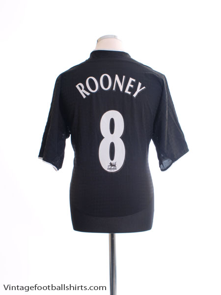 2003-05 Manchester United Away Shirt Rooney #8 L - 112677