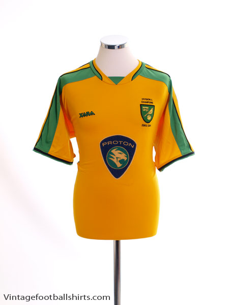 2003-05 Norwich City 'Division 1 Champions' Home Shirt M