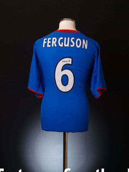 2003-05 Rangers Home Shirt Ferguson #6 XL