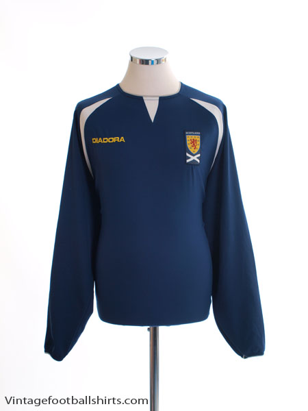 2003-05 Scotland Home Shirt L/S M