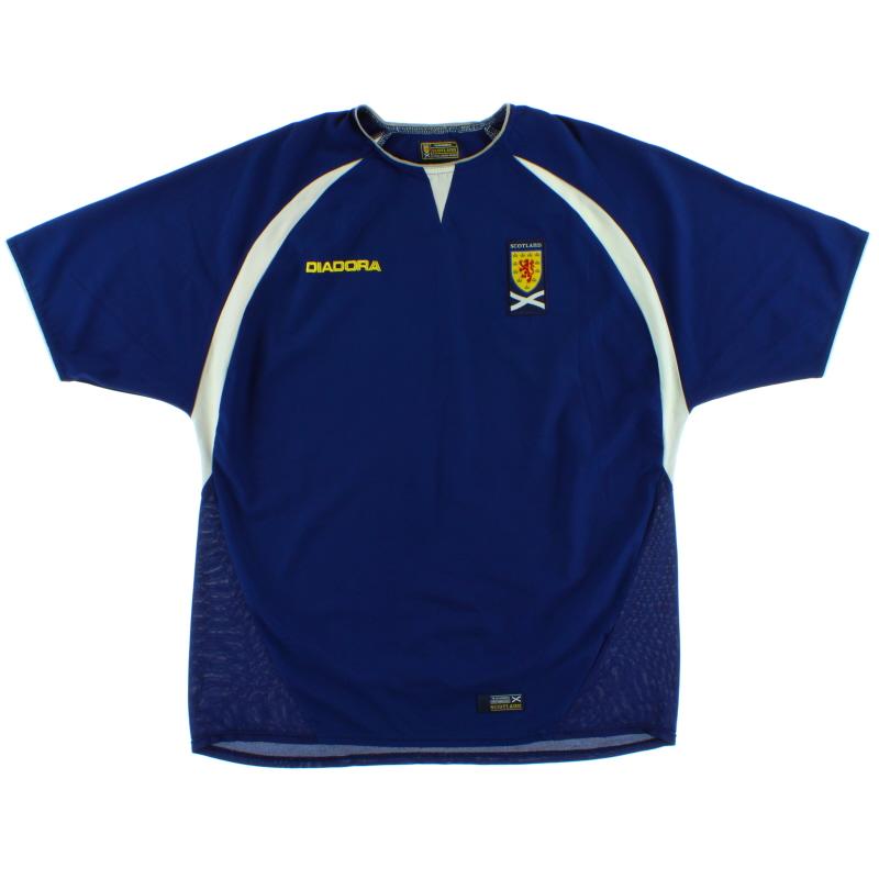 2003-05 Scotland Diadora Home Shirt XL