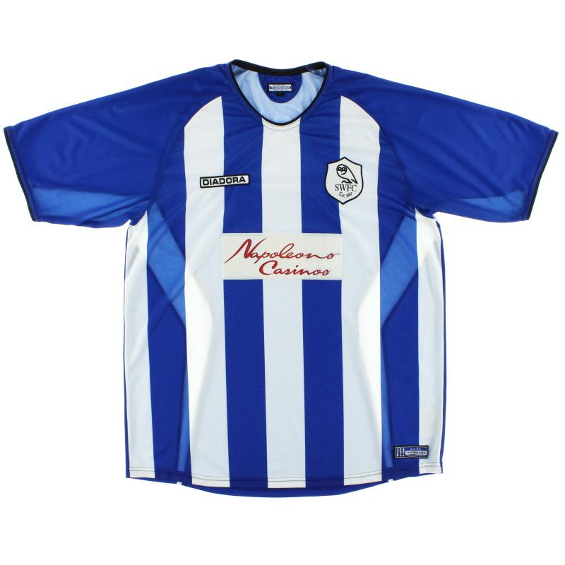 2003-05 Sheffield Wednesday Home Shirt L