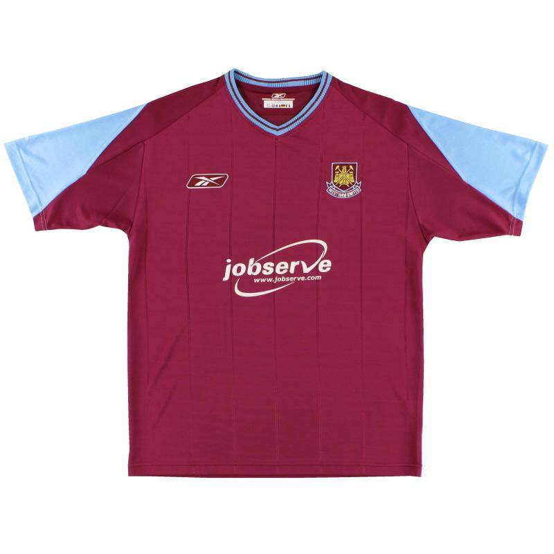 2003-05 West Ham Reebok Home Shirt XL - 233139