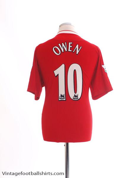 2003 Liverpool 'Worthington Cup' Home Shirt Owen #10 *Mint* M