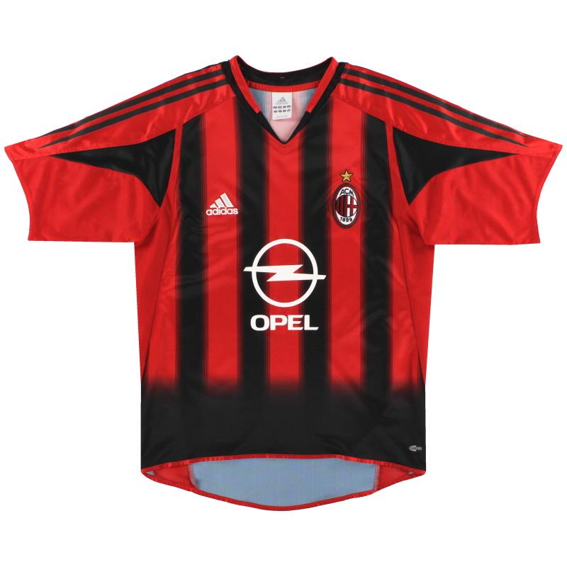 2004-05 AC Milan adidas Home Shirt *Mint* L - 369572