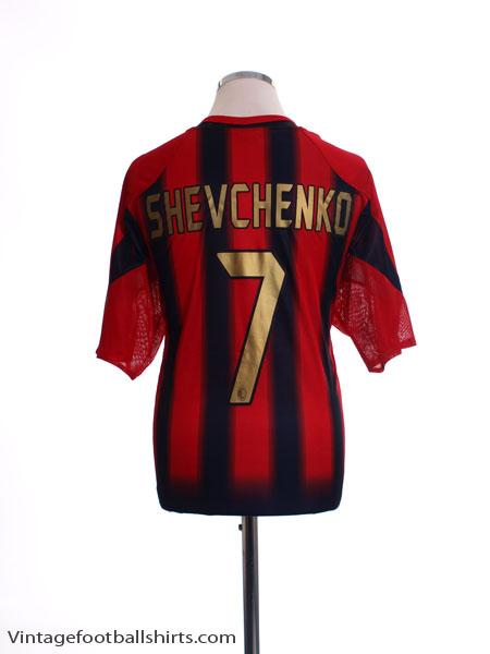 2004-05 AC Milan Home Shirt Shevchenko #7 *Mint* L