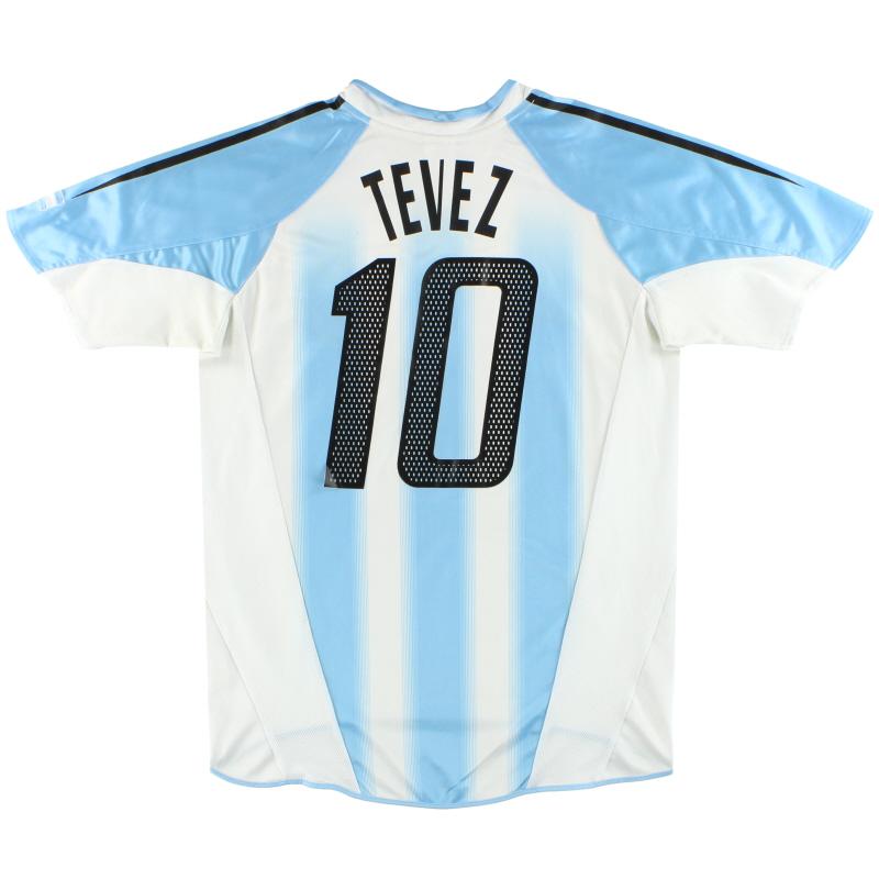 2004-05 Argentina adidas Home Shirt Tevez #10 M