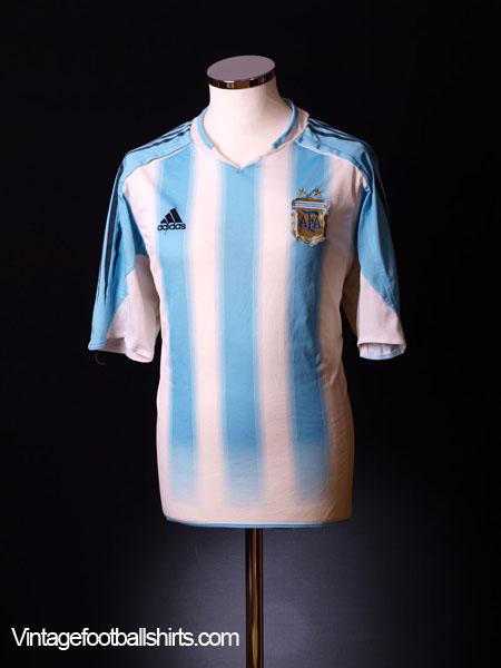 2004-05 Argentina Home Shirt L.Boys