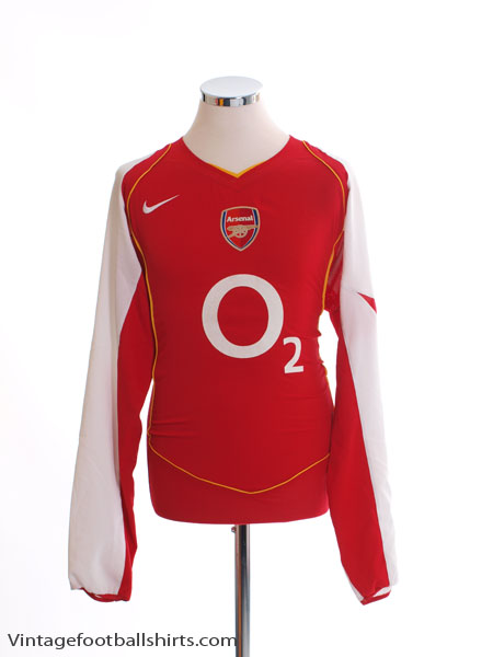2004-05 Arsenal Home Shirt L/S L