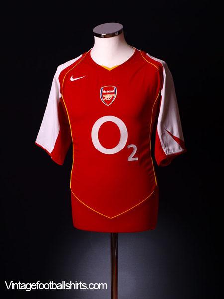 official photos 40d54 950e0 2004-05 Arsenal Home Shirt Vieira #4 L for sale