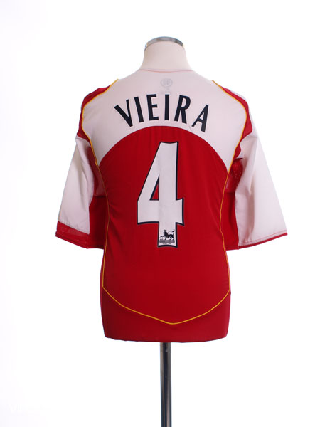 2004-05 Arsenal Home Shirt Vieira #4 XL