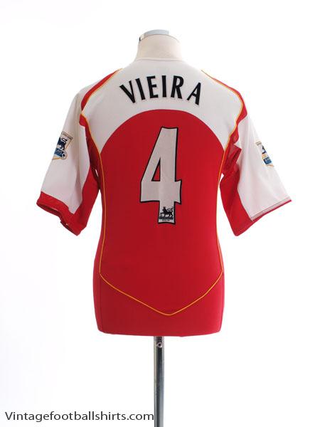 2004-05 Arsenal Home Shirt Vieira #4 M