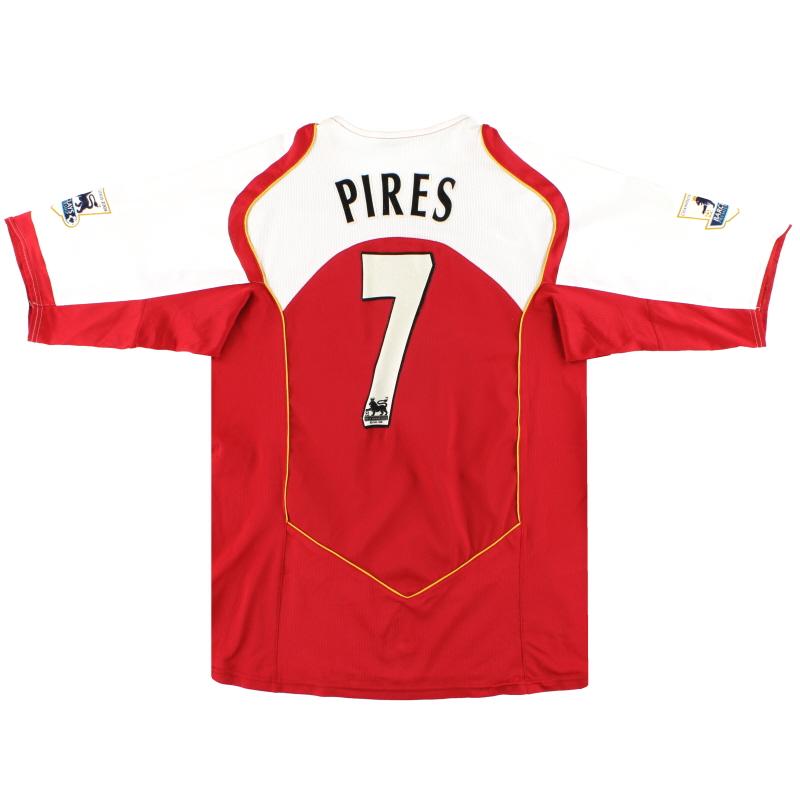 2004-05 Arsenal Nike Home Shirt Pires #7 L - 118817