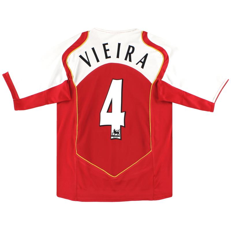 2004-05 Arsenal Nike Home Shirt Vieira #4 M - 118817