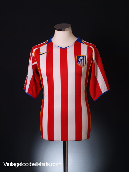 2004-05 Atletico Madrid Home Shirt M