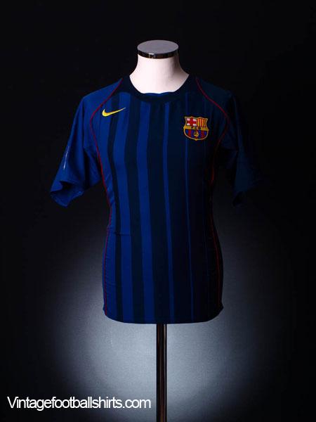 2004-05 Barcelona Away Shirt M