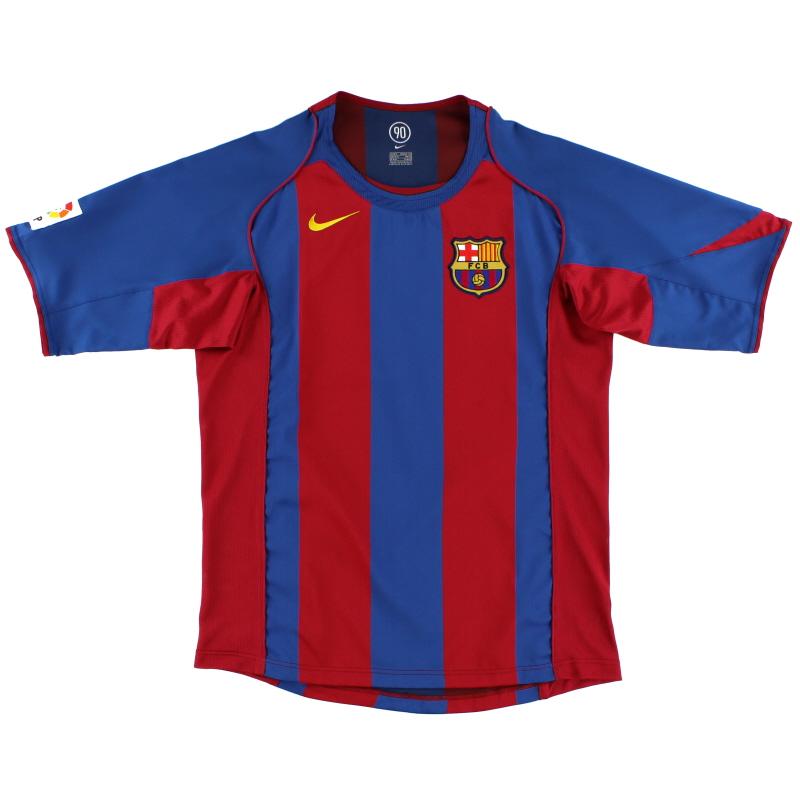 2004-05 Barcelona Home Shirt #7 L - 118861