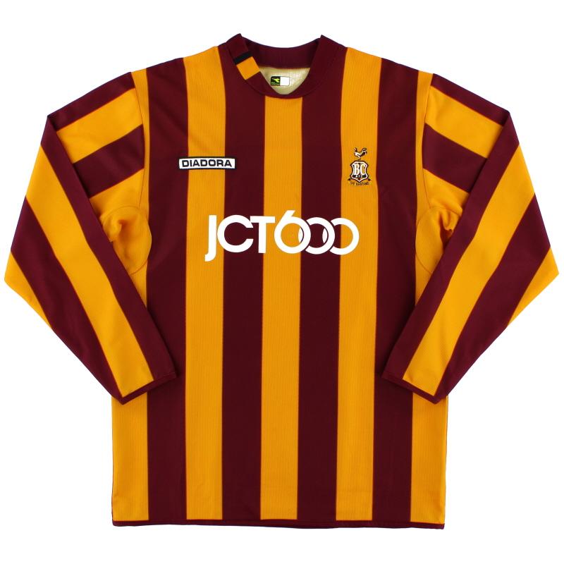 2004-05 Bradford City Home Shirt L/S M