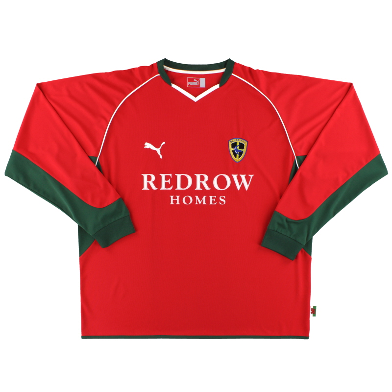 2004-05 Cardiff City Away Shirt L/S XXL