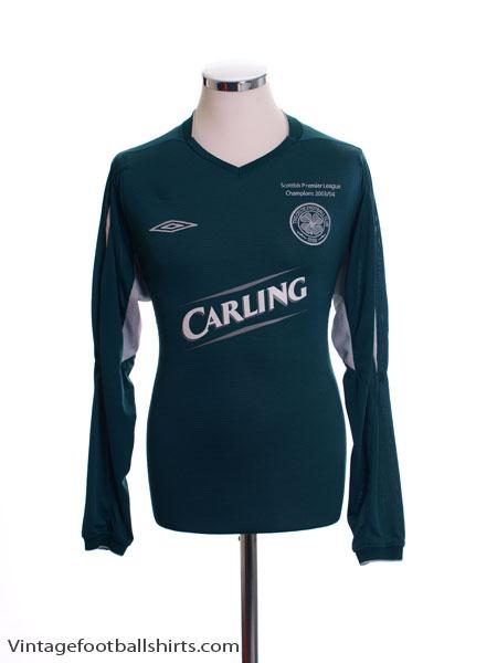 2004-05 Celtic Away Shirt L/S L
