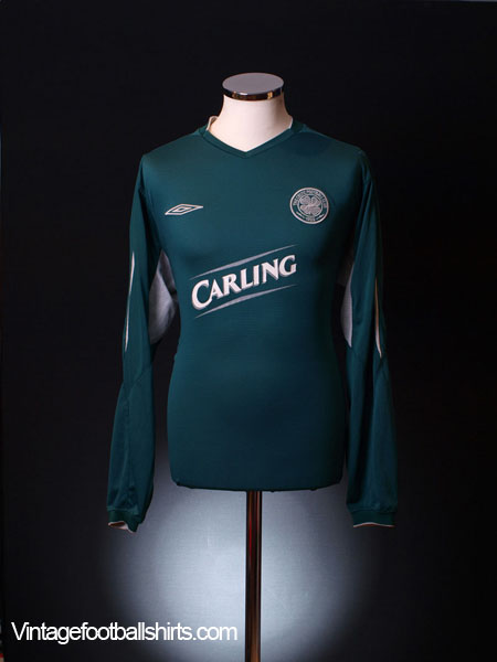2004-05 Celtic Away Shirt L/S *Mint* L