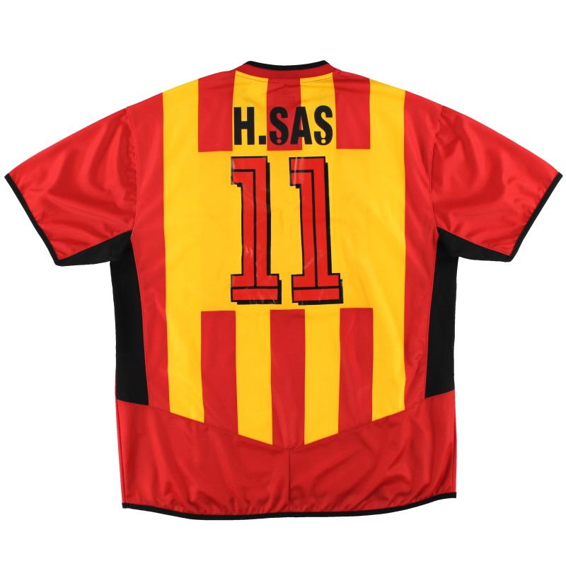 2004-05 Galatasaray Umbro Home Shirt H.Sas #11 L