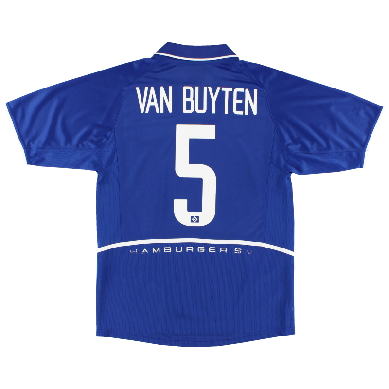 2004-05 Hamburg Away Shirt Van Buyten #5 S