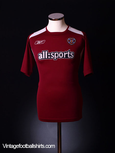 2004-05 Hearts Home Shirt XL
