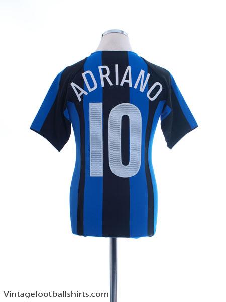 2004-05 Inter Milan Home Shirt Adriano #10 XL.Boys - 493411