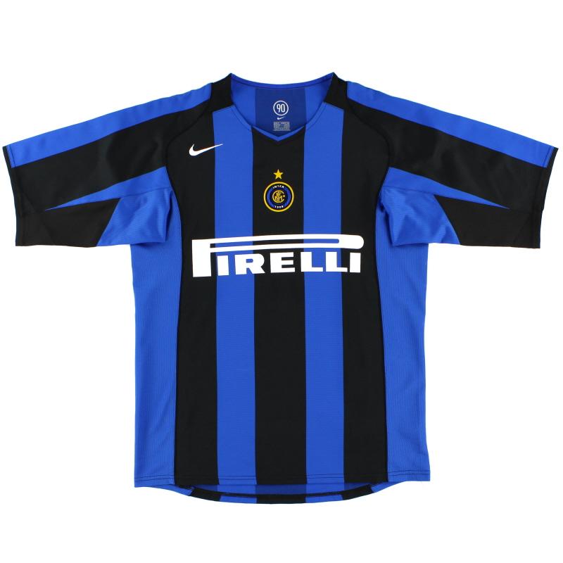 2004-05 Inter Milan Nike Home Shirt L.Boys