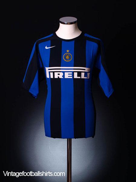 2004-05 Inter Milan Home Shirt L.Boys