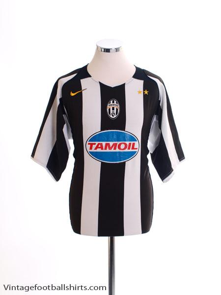 2004-05 Juventus Champions League Home Shirt L