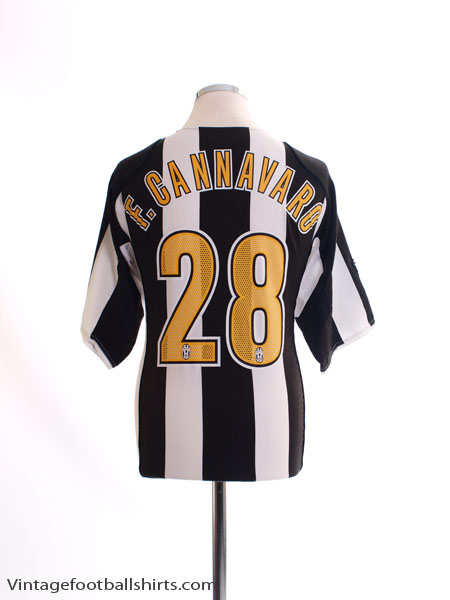 2004-05 Juventus Home Shirt F.Cannavaro #28 L