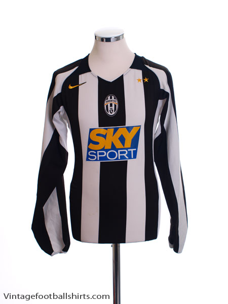 2004-05 Juventus Home Shirt L/S S