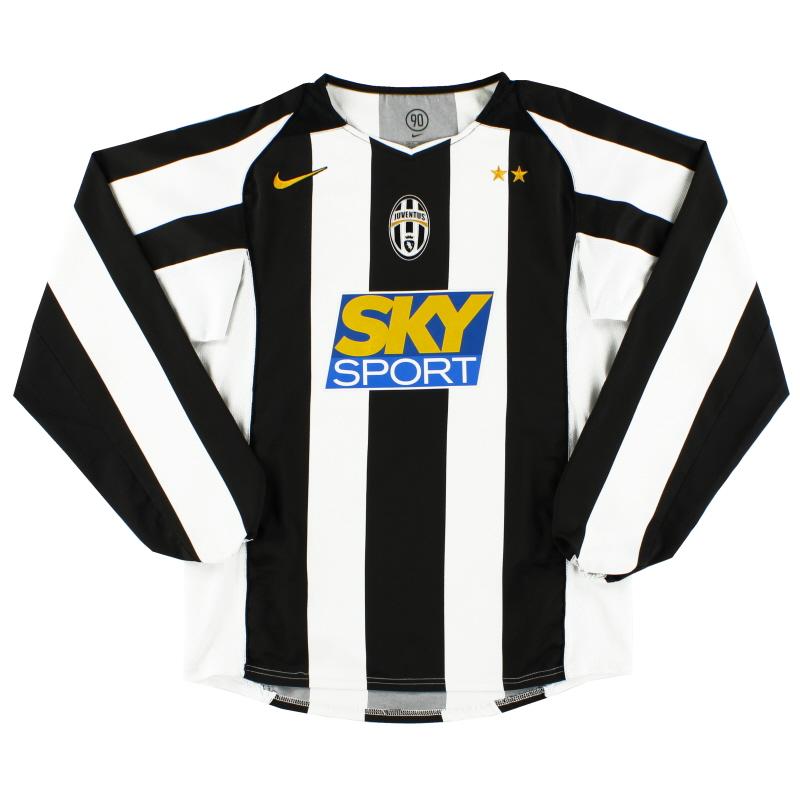 2004-05 Juventus Home Shirt L/S M