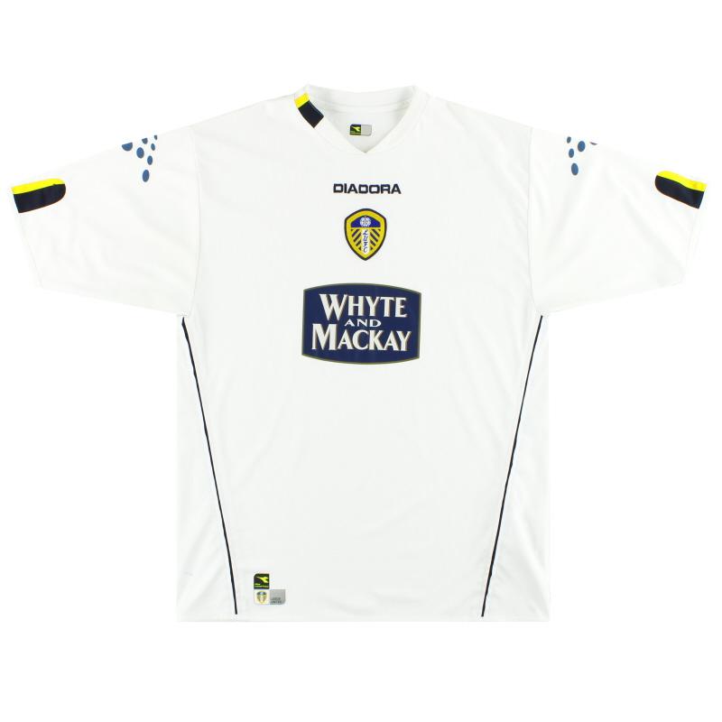 2004-05 Leeds Diadora Home Shirt M
