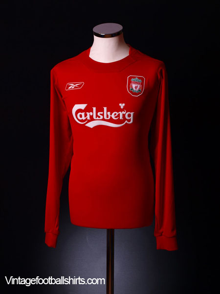2004-06 Liverpool Home Shirt L/S M