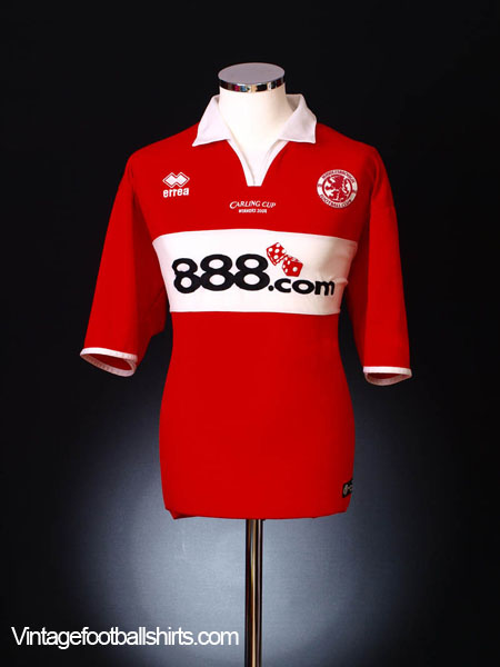 2004-05 Middlesbrough 'Carling Cup Winners 2004' Home Shirt XL