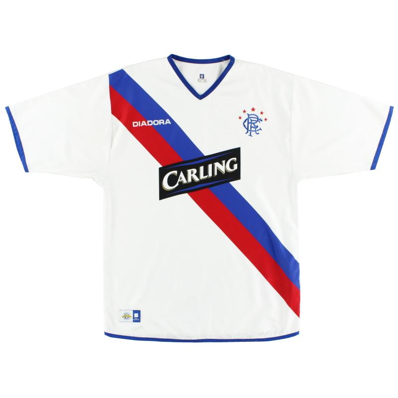2004-05 Rangers Diadora Away Shirt L