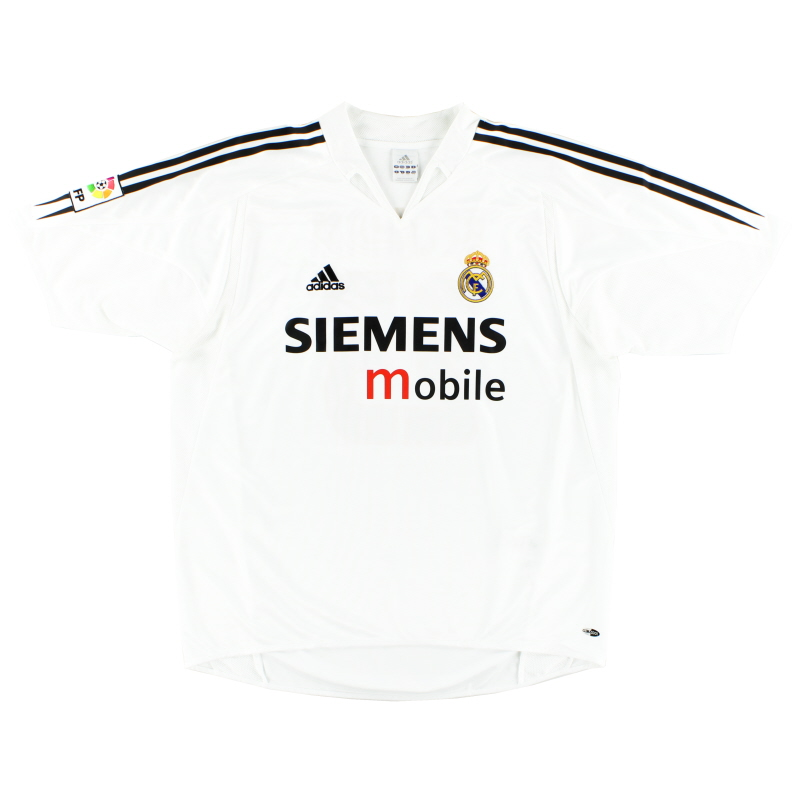 2004-05 Real Madrid adidas Home Shirt *Mint* L - 367842